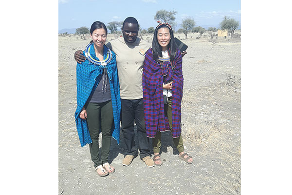 our guests and our guide in Maasai village