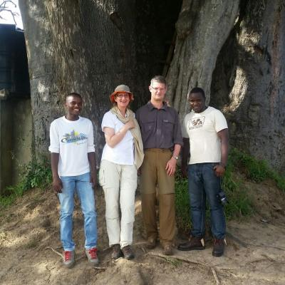 INFRONT OF THE BIG BAOBAB TREE IN MIKUMI